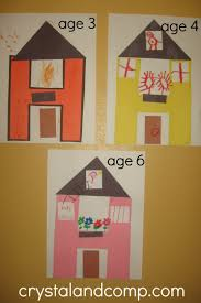 art for house letter of the week h alphabet activities for preschoolers