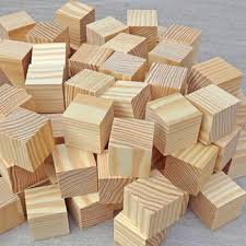 unfinished pine wood craft wood blocks 35mm wooden cubes