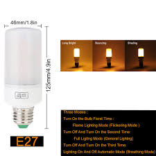 led cer awning lights e27 e26 led fire flame effect corn light bulb b22 e14 e12 2835 smd