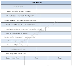 client survey form sample client survey form template sample forms