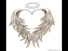 angel wing heart tattoo design photos pictures and sketches