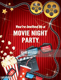 movie night invitations template movie night party invitation template with red curtain and film