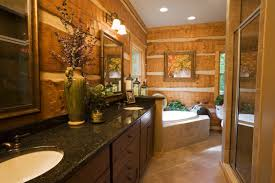 Beautiful Log Home Interiors Log Home Bathrooms