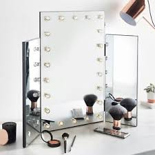 hollywood makeup mirror with lights beautify large trifold hollywood makeup dressing table vanity mirror