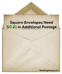 postage for square envelopes wedding stamps