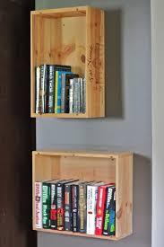 Crate Bookcase Wine Crate Bookshelves