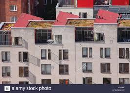 flat roof house windows stock photo royalty free image