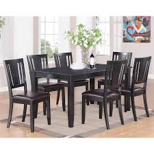 shop east west furniture dudley black 7 piece dining set with
