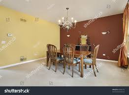 large dining room yellow copper colored stock photo 62945716