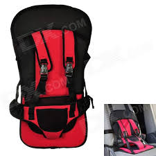 multi function car safety harness seat cover cushion red