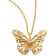 necklace butterfly pendant images Alexander mcqueen butterfly pendant necklace polyvore out=j