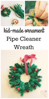 pipe cleaner wreath ornament school time snippets