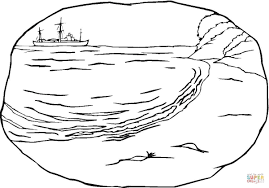 a sea shore coloring page free printable coloring pages