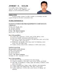 Updated Resume Examples by Junrey Updated Resume