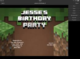 invitation maker app minecraft invitation maker iphone app 3d invite maker