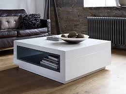 White Coffee Table Square White Coffee Table Modern Fancy With Storage Regarding 11