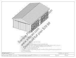 63 24 u0027 x 40 u0027 pole barn plans 4 car garage plans sds plans