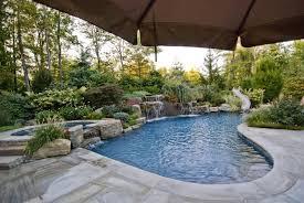 Swimming Pool Landscaping Designs Landscaping Ideas Nj Custom Pool - Custom backyard designs