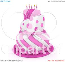 royalty free cgi clip art illustration of a 3d pink and white