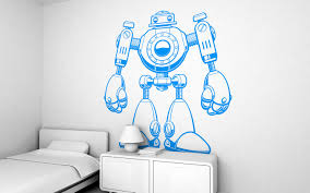 giant kids wall decals by e glue studio at coroflot com jojo the robot giant wall sticker for baby nursery or kids room