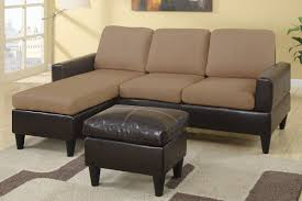 Suede Sectional Sofas All In One Faux Leather And Microfiber Sectional Sofa With Ottoman