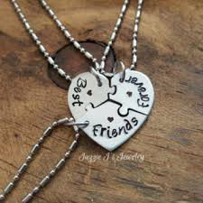 best friends puzzle necklace images Best puzzle piece heart necklace products on wanelo jpg