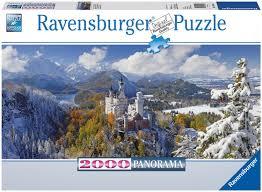 time lapse puzzle neuschwanstein castle ravensburger 2000