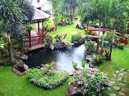Small Garden Pond Ideas Small Landscape Pond Ideas A Small Backyard Pond Surrounded By
