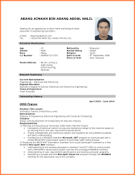 Best Electrical Engineer Resume by 7 Best Cv For Job Application Bussines Proposal 2017