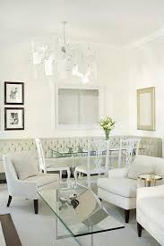 White Tufted Dining Chairs Tufted Dining Bench Transitional Dining Room Sarah
