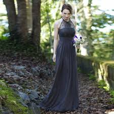 charcoal grey bridesmaid dresses aliexpress buy 2016 grey summer chiffon