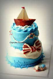 baby shower cupcake flavors nautical sailor baby shower cake
