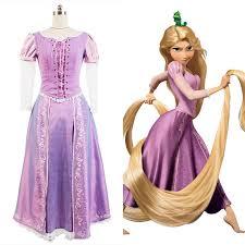 tangled halloween cosplay costume princess rapunzel dress ball