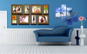 Living Room Wallpaper Gallery Interior Sofa Flowers Vases Pictures Polyptych Dolphins Faces