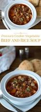 pressure cooker instant pot vegetable beef and rice soup