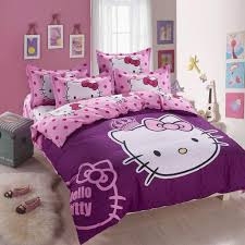 Purple Accent Wall by Purple Hello Kitty Bed Linen For Elegant Hello Kitty Bedroom