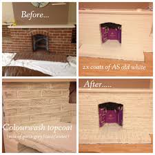 brick fireplace makeover with annie sloan chalk paint the only