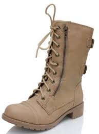 light brown combat boots soda dome mid calf height women s military combat boots 10 light