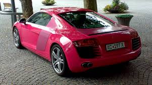 pink audi a6 audi r8 in pink the german car