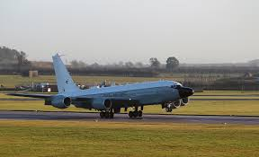 file first rivet joint aircraft lands at raf waddington mod
