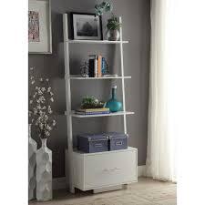 white ladder shelves ivory shelves antique white bookcase ladder