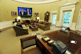 Trump Gold Curtains by Trump U0027s Oval Office Flatscreen Tv