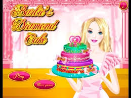 barbie online games barbie diamond cake game cooking game youtube