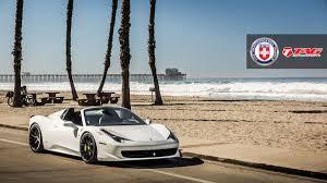 Ferrari 458 Black And White - stunning white ferrari 458 spider with satin black hre wheels