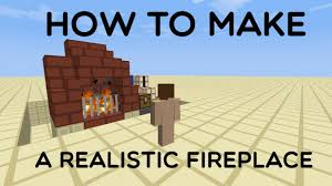 how to make a realistic fireplace with redstone minecraft blog