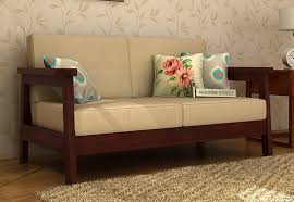 Seater Sofa  Buy Two Seater Sofa Online Upto  Off  WoodenStreet - Simple sofa design