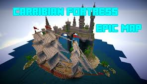 Pirates Of The Caribbean Map by Minecraft Caribbean Fortress Epic Island Map W Download Youtube