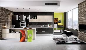 Kitchen Color Design Ideas by Modern Gloss Orange Kitchen With Yellow Color Design Ideas For