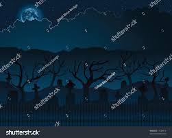 spooky halloween graveyard stock vector 17258419 shutterstock