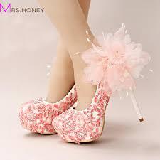 wedding shoes melbourne handmade lace appliques wedding shoes pink flower bridal dress